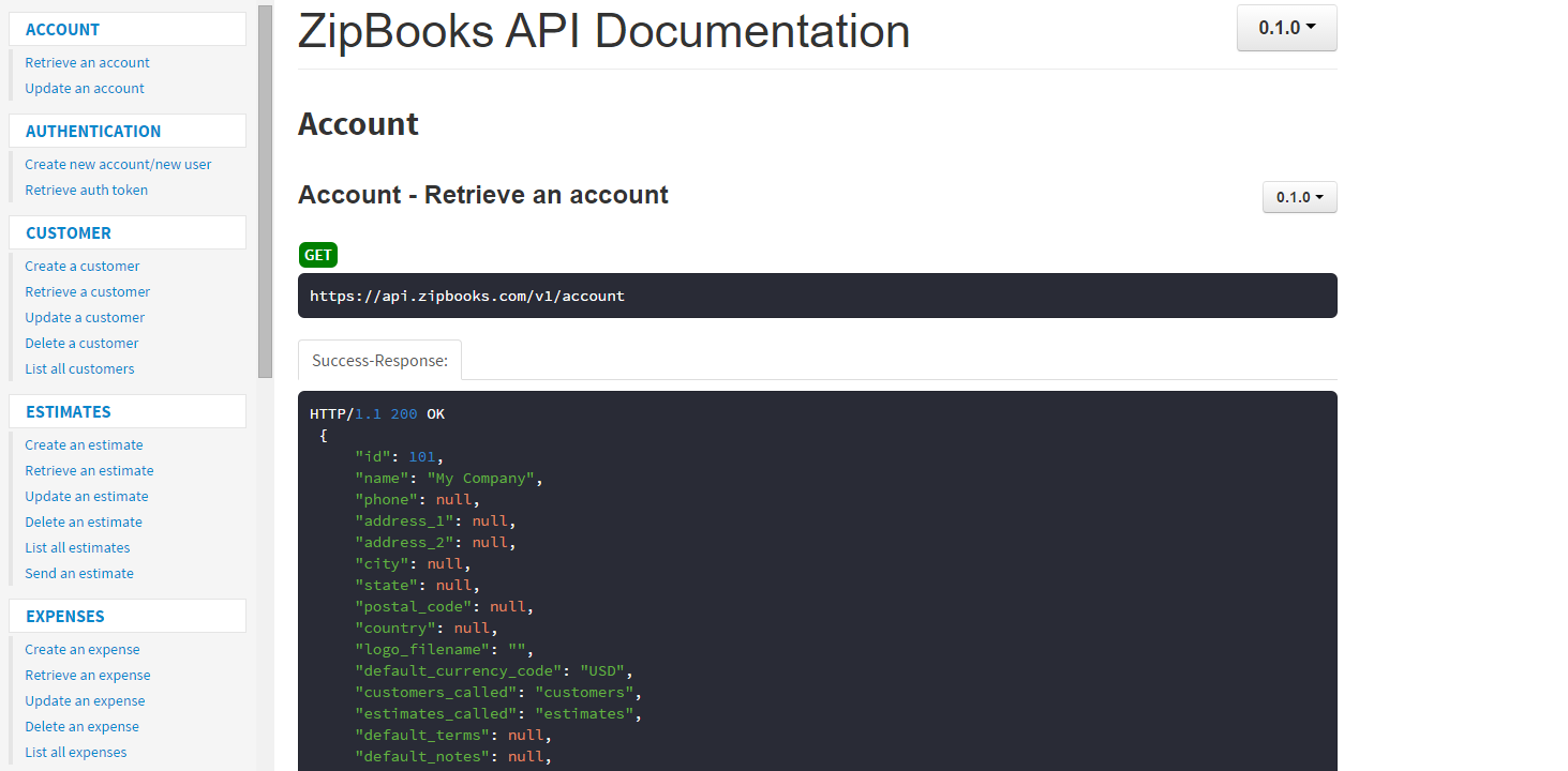 Product update: ZipBooks API is open for business