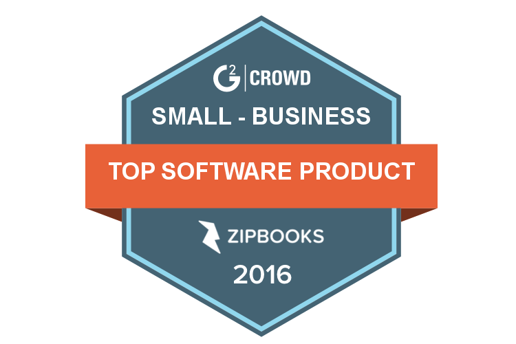 ZipBooks ranks No. 1 on G2 Crowd's 2016 Top 50 SMB Software Product list
