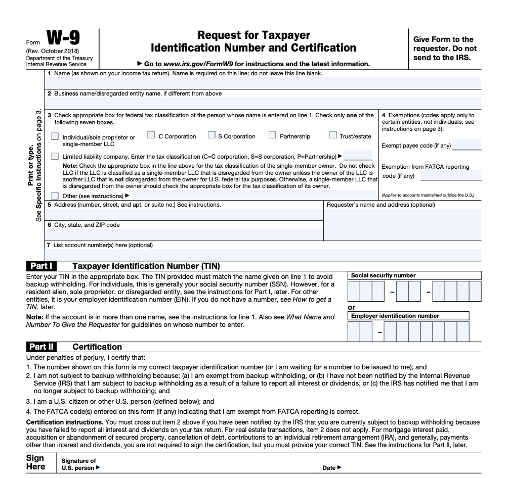 form w 9 irs  IRS Form W-8 | ZipBooks