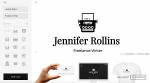 An example of a business logo from SquareSpace Logo.